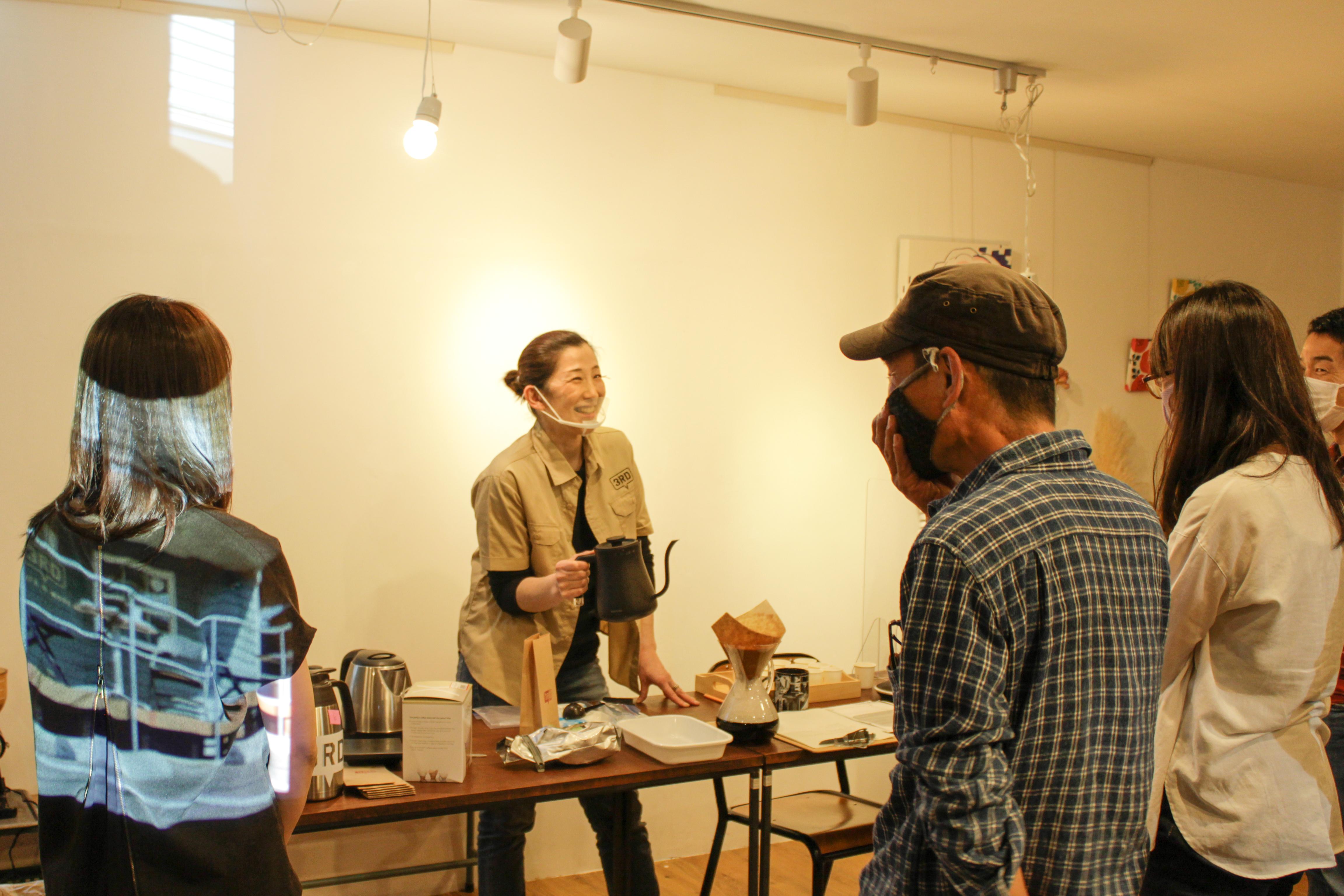 ぽんぽこTALK 関愛さん(3RD CAFE & MORE)のコーヒー講座